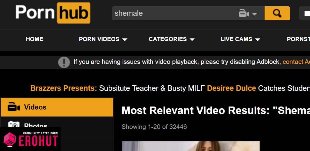 PornHub Shemale