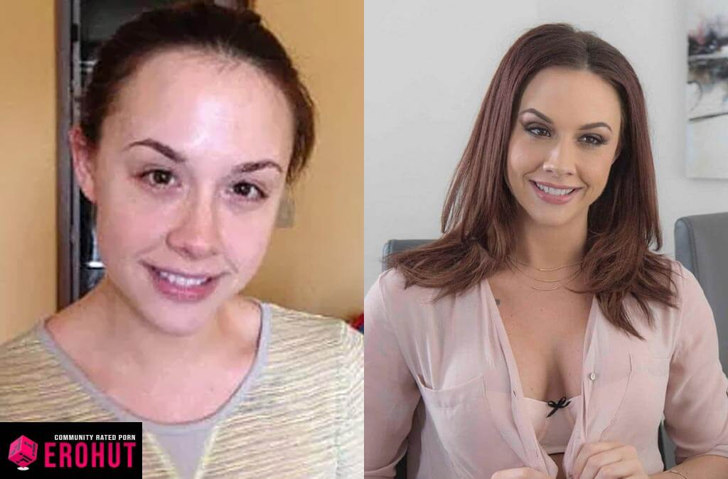 Chanel Preston With and Without Makeup