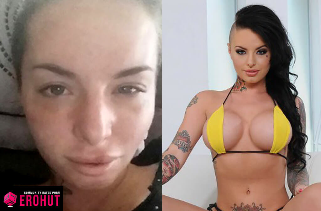 Christy Mack With and Without Makeup
