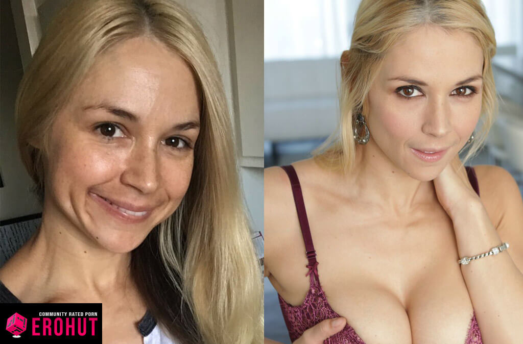 Sarah Vandella With and Without Makeup