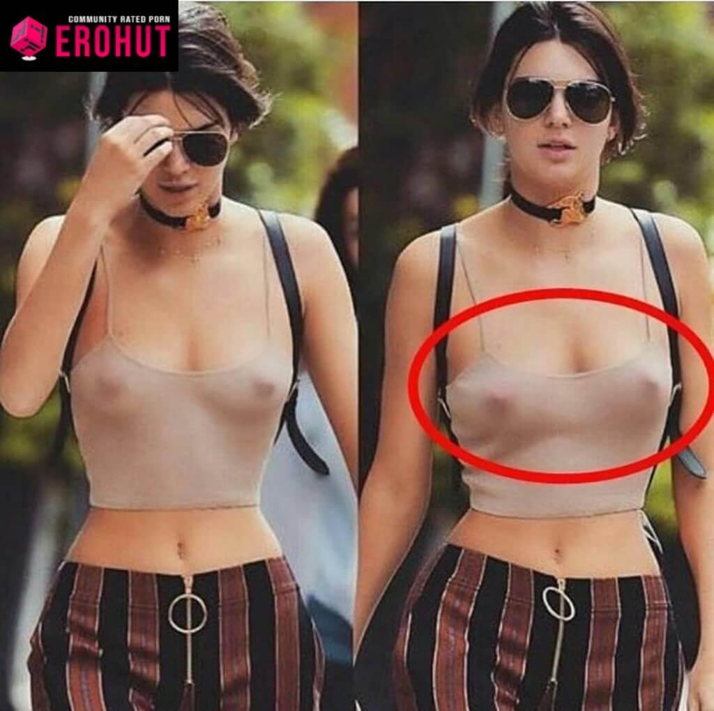 Kendall Jenner No Bra, Nipples