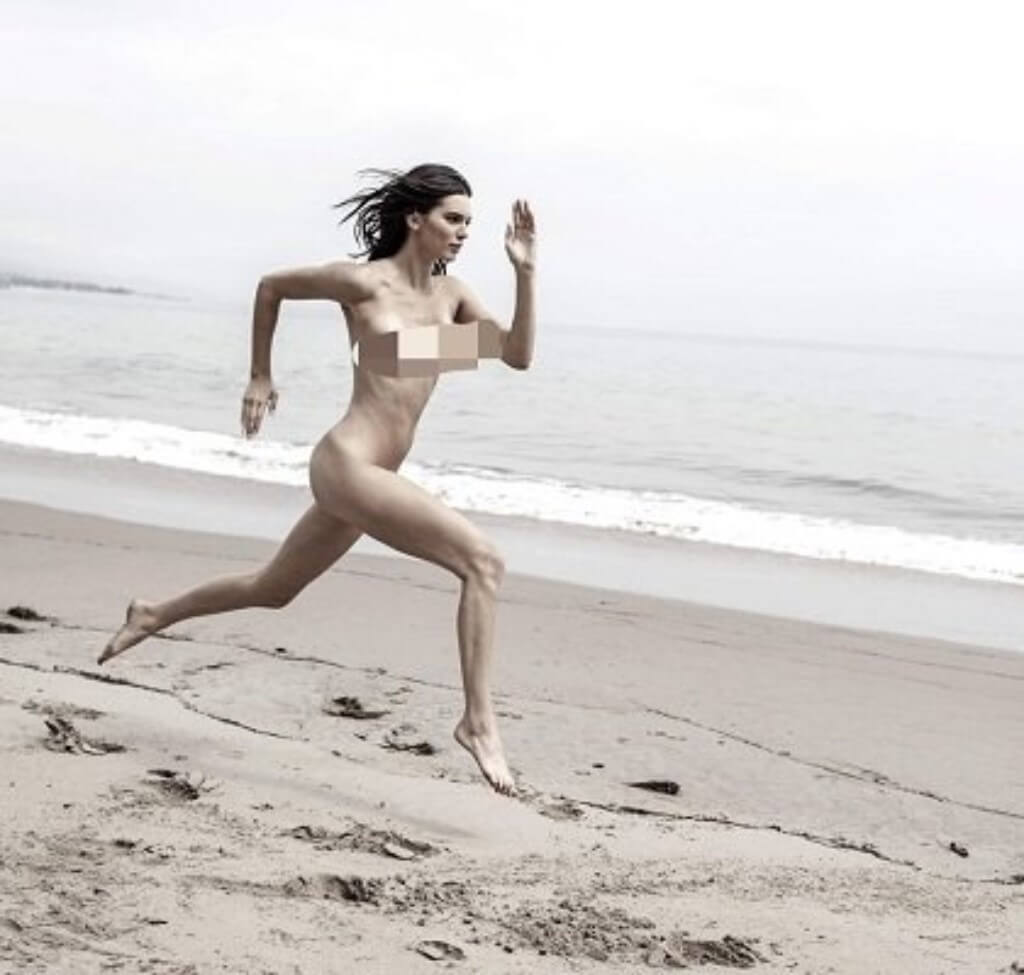 Kendal Jenner Naked Beach Sprint