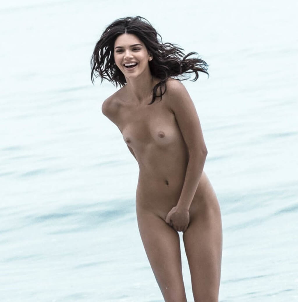 Kendall Jenner Naked Beach Ass