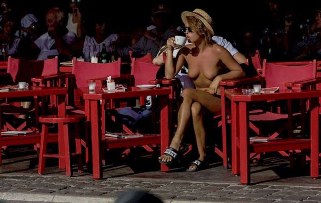 Marisa Papen Nude Public Saint Tropez