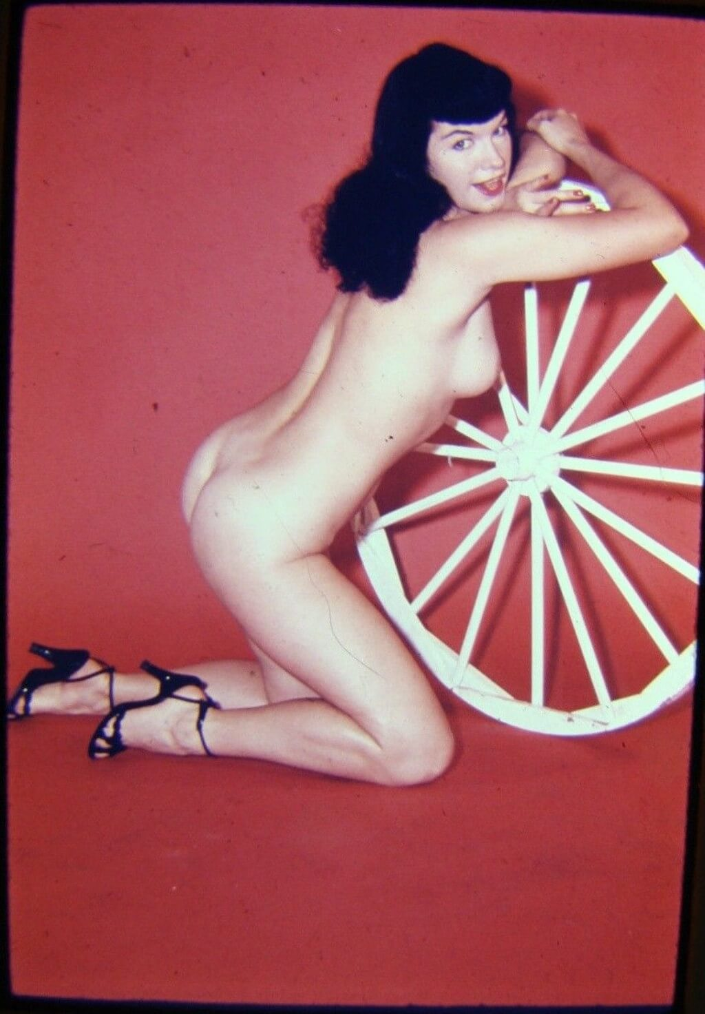 Pin Up Bettie Page Nude Ass Color
