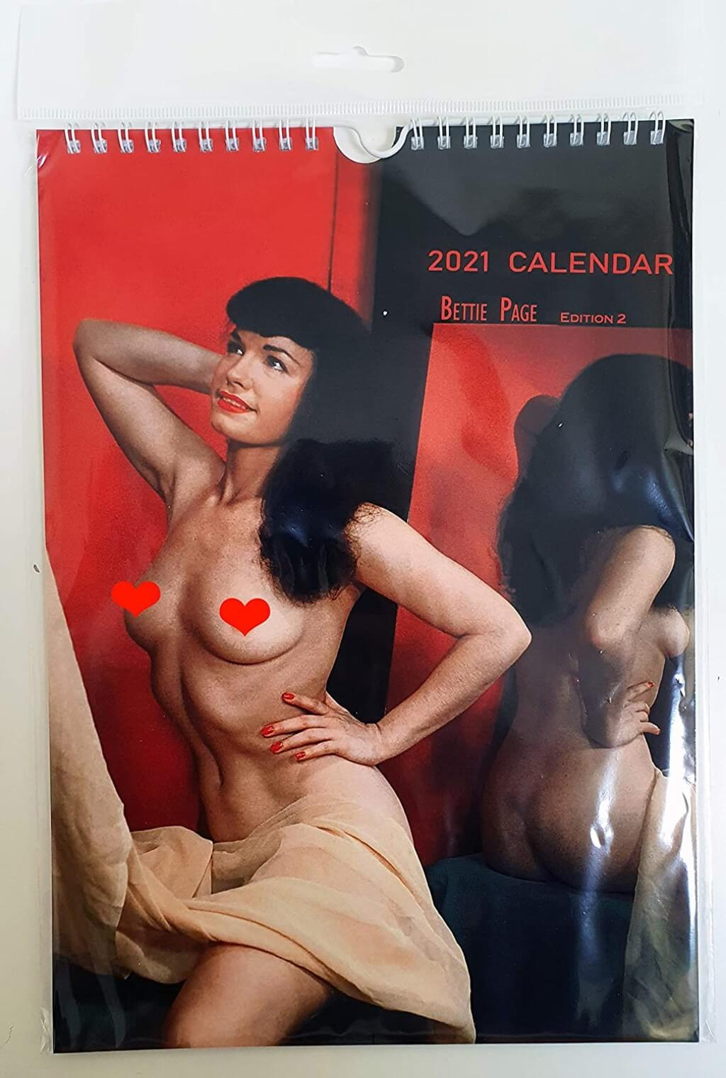 Pin Up Bettie Page Nude Color