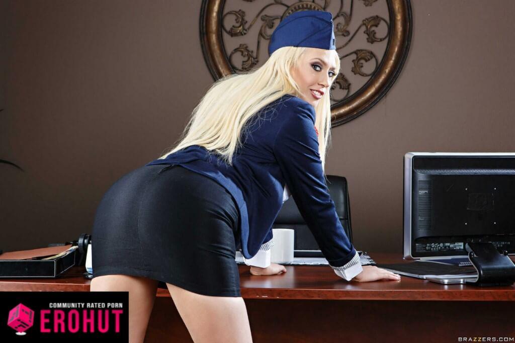 Kagney Linn Karter Flight Attendant Pornstar